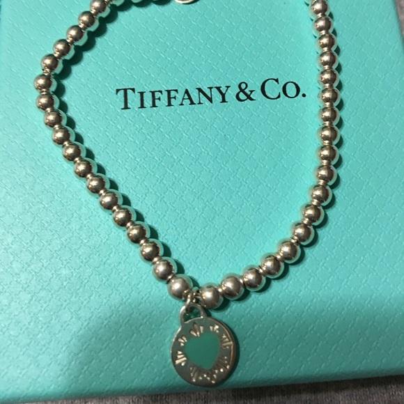 72a84eab6 Tiffany & Co. Jewelry | Tiffany Round Heart Charm Bracelet | Poshmark